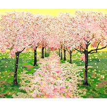 'Stages of Life (Spring): The Avenue of Cherry Trees (1)'