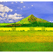 'The Bright Field (Roseberry Topping at the Height of Summer)'